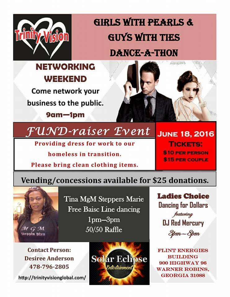 Girls with Pearls and Guys with Ties Dance-A-Thon