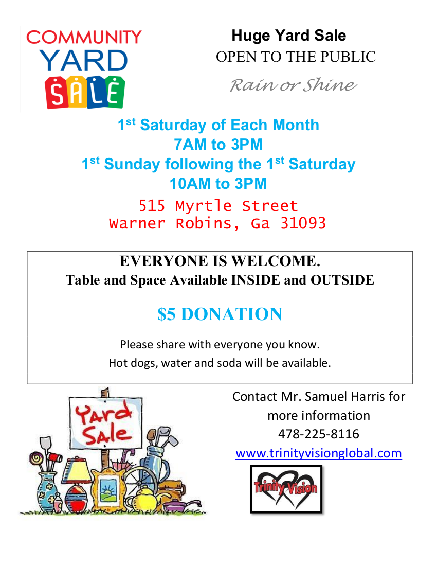 Monthly Yard Sale
