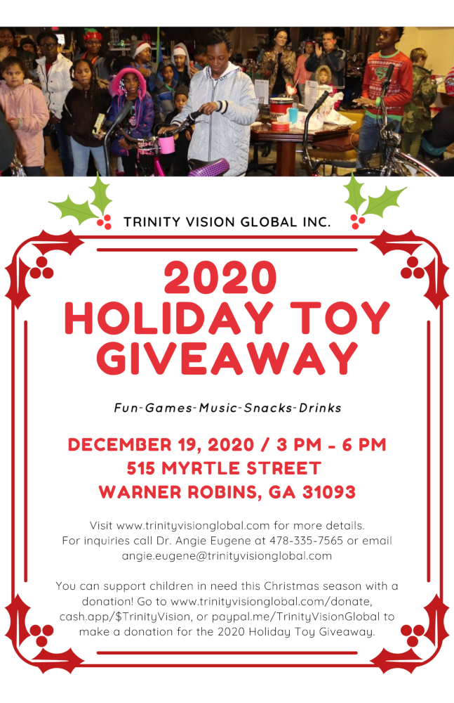 2020 Holiday Toy Giveaway